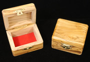 Handcrafted Bethlehem Olive Wood Rectangle Box - Small