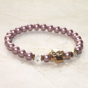 Heirloom Rose Swarovski Pearl Prayer Bracelet