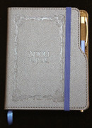Embossed Agion Oros Notebook - Blue