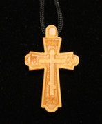 Carved Wooden Neck Cross