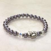 Amethyst Swarovski Pearl Prayer Bracelet