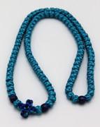 Satin 100 Knot Athos Prayer Rope - Turquoise
