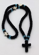 100 Knot Satin Prayer Rope With Cross Beads