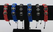 Woven Cross Bracelet - Blue