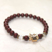 Bordeaux Swarovski Pearl Prayer Bracelet