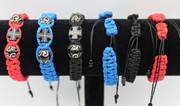 Woven Cross Bracelet - Black