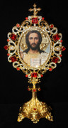 Jeweled Icon Stand - Christ