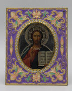 Christ Enamel Icon Frame - Purple