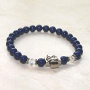Lapis Pearl Swarovski Prayer Bracelet