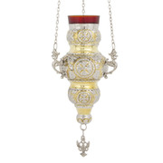 Hanging Vigil Lamp - Gold/Silver/Red
