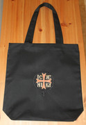 Embroidered Tote Bag - Black