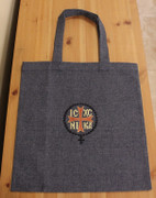 Embroidered Tote Bag - Blue Denim