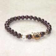 Orchid Swarovksi Pearl Prayer Bracelet