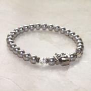 Silver Pearl Swarovski Pearl Prayer Bracelet
