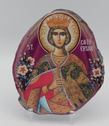 Agate Slice Icon - Great Martyr Catherine