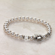 Snow White Swarovski Pearl Prayer Bracelet