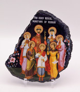 Agate Slice Icon - Royal Martyrs of Russia 2