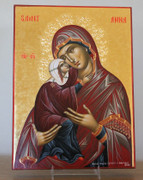 Hand-painted Icon of St. Anna