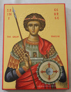 Hand-painted Icon of Great Martyr George