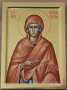 Hand-painted Icon of Righteous Elizabeth, Mother of the Forerunner