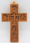 Aromatic Mastic Cross with details of the Passion and Resurrection