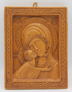 "Aromatic Mastic Icon Mother of God ""Sweet Kissing"""