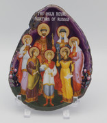 Agate Icon - Royal Martyrs of Russia