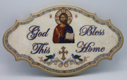 Wall Plaque - God Bless This Home (large)