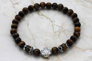Semi-Precious Stone Brown Tiger Eye Prayer Bracelet