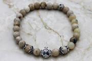 Semi-Precious Stone Opal Prayer Bracelet