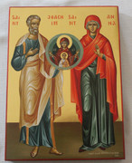 Hand-painted Icon of Sts. Joachim and Anna