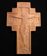 Hand-Carved Wall Cross