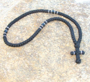 100-knot Greek with Accents - 3 ply with Black Beads