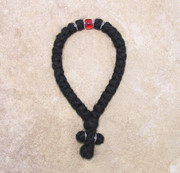 33-knot Greek with Accents - 3 ply with Red Bead