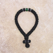 33-knot Greek with Accents - 3 ply with Green Bead