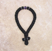 33-knot Greek with Accents - 3 ply with Purple Bead