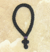 33-knot Greek Prayer Rope - 3 ply with Purple Bead