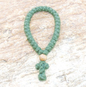 33-knot Greek Prayer Rope - 4 ply Pine Green