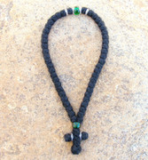 50-knot Greek with Accents - 3 ply with Green Bead