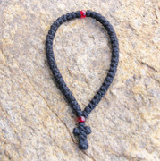 50-Knot Greek Prayer Rope - 2 ply with Red Bead