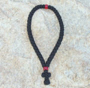 50-Knot Greek Prayer Rope - 3 ply with Red Bead