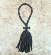 50-Knot Russian Prayer Rope - 2 ply with Red Beads