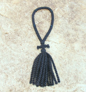 50-Knot Russian Prayer Rope - 2 ply with Black Beads