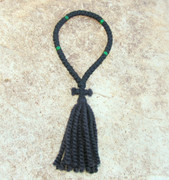 50-Knot Russian Prayer Rope - 2 ply with Green Beads