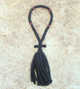 50-Knot Russian Prayer Rope - 2 ply with Wooden Beads