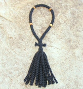 50-Knot Russian Prayer Rope - 2 ply with Olive Wood Beads
