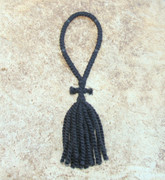50-Knot Russian Prayer Rope - 2 ply with Black Wood Beads