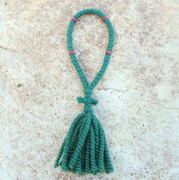50-Knot Russian Prayer Rope - 2 ply Forest Green