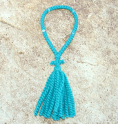 50-Knot Russian Prayer Rope - 2 ply Teal Blue