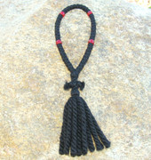 50-Knot Russian Prayer Rope - 3 ply with Red Beads